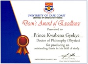 Photo of Prince Kwabena Gyekye award